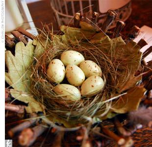 Bird-nest-theme-wedding-centerpiece