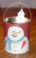 Snowman Gift Bucket
